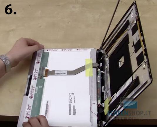 Kaip pasikeisti nesiojamo kompiuterio ekrana laptopo ekrano keitimas 6