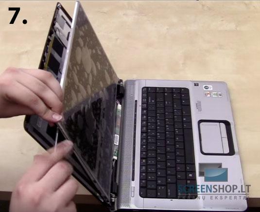Kaip pasikeisti nesiojamo kompiuterio ekrana laptopo ekrano keitimas 7