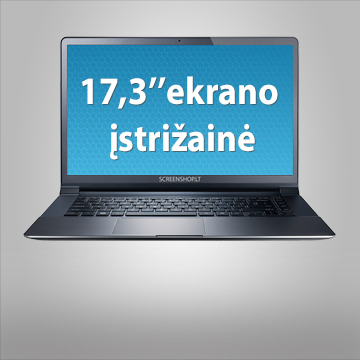 """17.3"""" kompiuterio ekrano įstrižainė"""