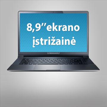 """8.9"""" kompiuterio ekrano įstrižainė"""