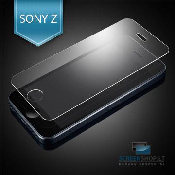 Apsauginis grūdintas stiklas SONY Xperia Z telefonui