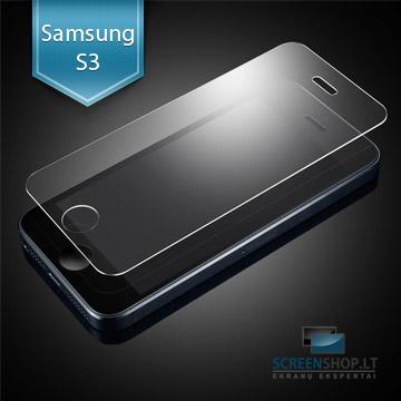 Apsauginis grūdintas stiklas SAMSUNG Galaxy S3 telefonui